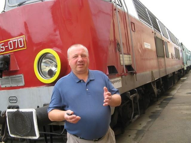 """- Jesteśmy mocno zaniepokojeni sytuacją na kolei - mówi szef """"Solidarności"""" w Lubuskim Zakładzie Przewozów Regionalnych Zbigniew Spurgiasz."""