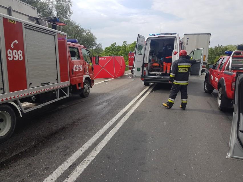 Tragiczny wypadek na drodze krajowej nr 91 w Chełmnie....