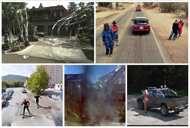 Google Street View to okno na cały świat, które pozwala zobaczyć z poziomu ulicy tysiące miast. To okno jest jednak otwarte szerzej, niż moglibyście sądzić - na zdjęciach nie brakuje bowiem internetowych żartownisiów, pijanych imprezowiczów, nagości (eksponowanej celowo i przez przypadek), niezręcznych scen i innych przekomicznych elementów. Zobaczcie, co można znaleźć spacerując po wirtualnych ulicach! >>>>>>>>>