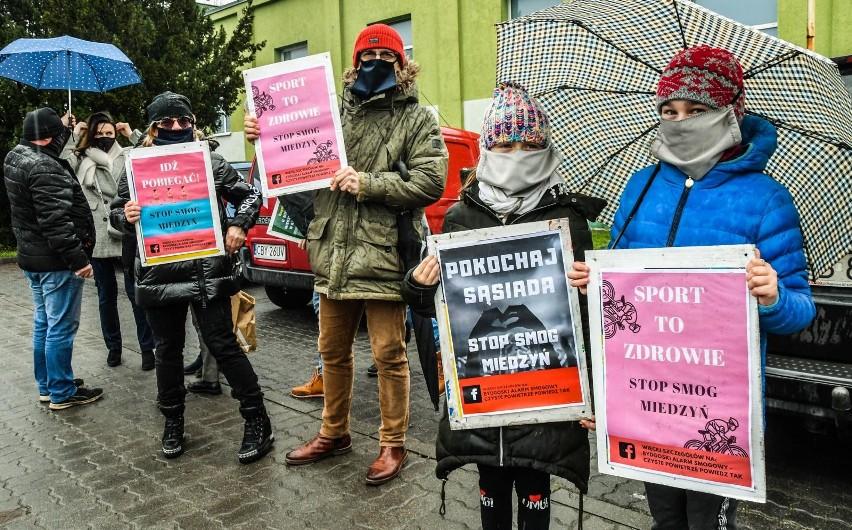 W grudniu 2019 r. w Bydgoszczy na Miedzyniu odbył się protestnantysmogowy