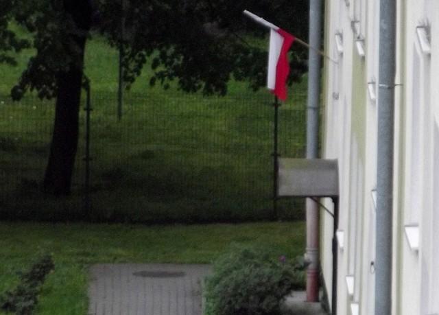 Na bloku naszej Czytelniczki również wywieszono flagę.