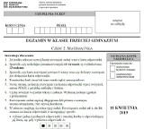 Egzamin gimnazjalny 2019. MATEMATYKA ARKUSZ CKE I ODPOWIEDZI. Testy gimnazjalne (cz. matematyczno-przyrodnicza) z matematyki 11.04.2019