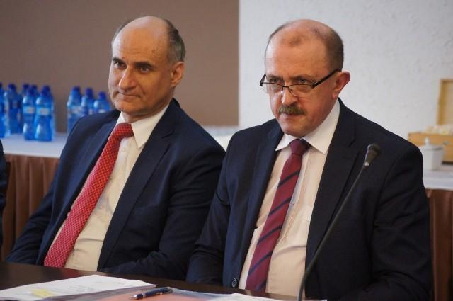 Piotr Kagankiewicz, dyrektor szpitala w Radomsku (z prawej)