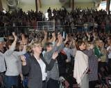 Ostrołęckie Spotkanie Charyzmatyczne 2018. W hali um. Gołasia zgromadziło się 1500 osób [ZDJĘCIA]