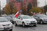 Protest taxi w Łodzi. Taksówkarze domagają się wsparcia od państwa