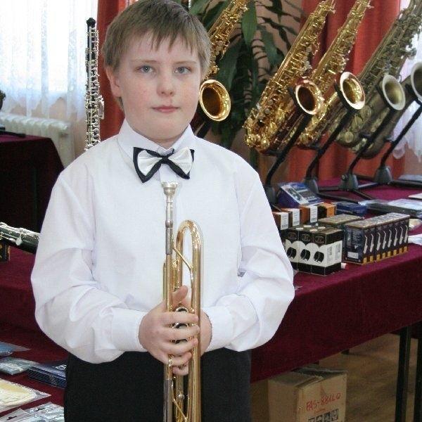 9-letni chełmnianin, Wojciech Coch, wziął  udział w konkursie mimo bólu gardła i gorączki