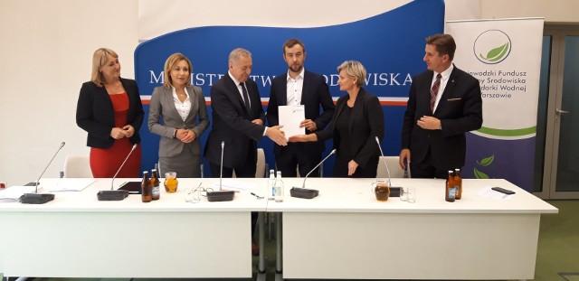 Umowa została podpisana 3 października 2019r. w Ministerstwie Środowiska.