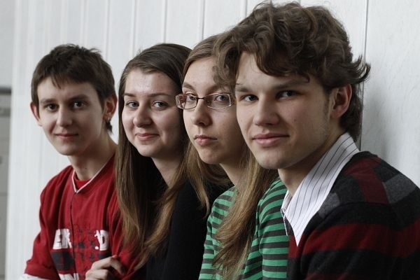 Od lewej: Sebastian Kuczyński, Sylwia Chuczun, Monika Horodek i Marek Ignaciuk