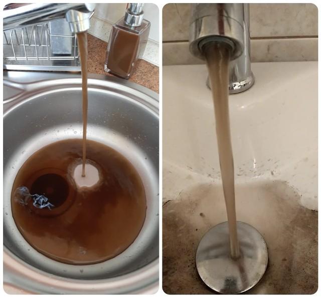 Taka woda leciała w tym miesiącu w niektórych domach w Czerwieńsku.