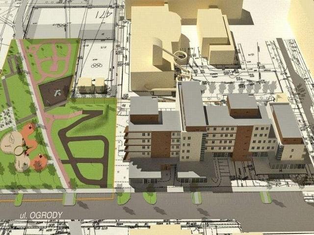 Wizualizacja nowej inwestycjiMieszkańcy Wyżyn chcą parkingów, a nie bloku