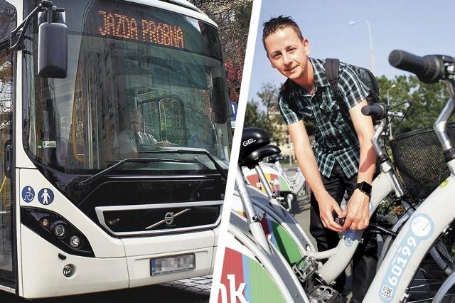 MZK testował niedawno autobus hybrydowy Volvo. Podobne mają jeździć na terenie aglomeracji. Stojaki z rowerami powinny pojawić się obok dużych parkingów na obrzeżach miast.