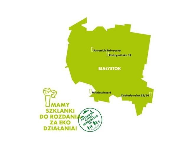 Szklanki do rozdania za eko działania w Białymstoku i Horodnianach