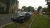 Wypadek na Konstantynowskiej. Trzy osoby ranne [ZDJĘCIA]