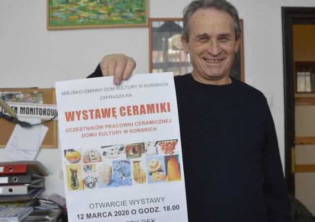 Paweł Stasiński instruktor ceramiki w domu kultury zaprasza na wystawę 12 marca