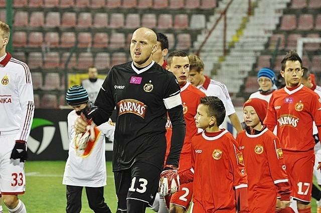 Widzewski bramkarz Maciej Mielcarz
