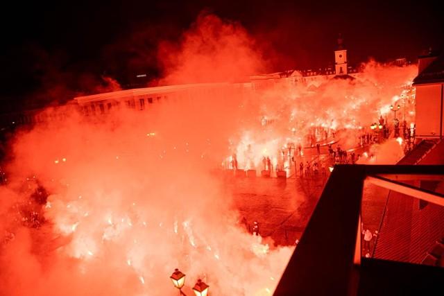 Kibice Jagiellonii Białystok odpalą race w centrum miasta. Chcą w ten sposób uczcić 101. rocznicę powstania klubu