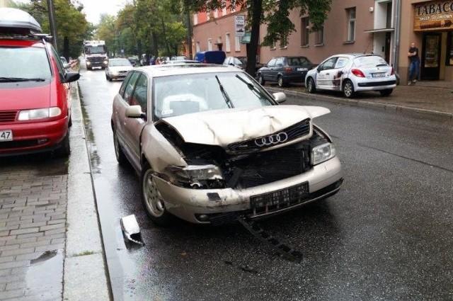 Do wypadku doszło na Katowickiej w pobliżu skrzyżowania z 1 Maja.