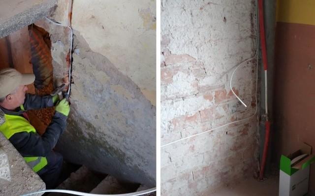 """Trwa akcja pomocy """"Ich Nowy Dom"""" w Busku - Zdroju. Oto zdjęcia z drugiego dnia prac przy domu państwa Woźniak."""