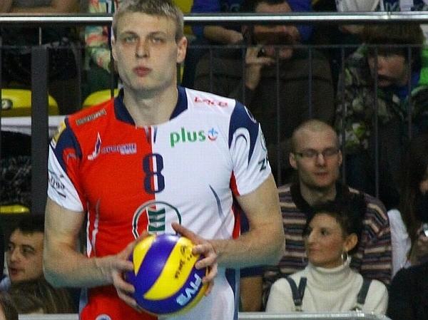 Środkowy Jurij Gladyr (ZAKSA).