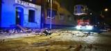Chorzów. Runął fragment ściany kamienicy. Ewakuowano 29 osób z dwóch budynków. Strażacy zabezpieczali miejsce zdarzenia