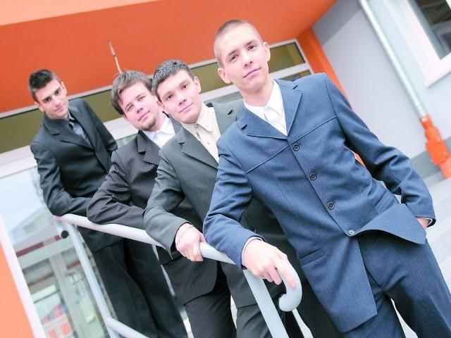 Rafał Koszarski, Adam Wiśniewski, Filip Jasiorowski i Adam Łabiszak (od lewej) są już po dwóch próbnych egzaminach