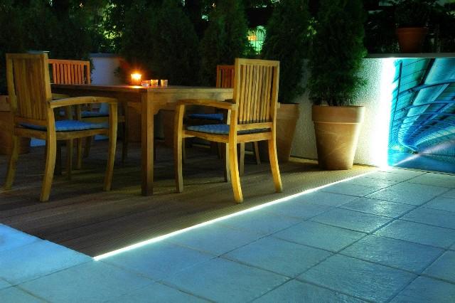 LEDZewnętrzne oświetlenie z wykorzystaniem elementów LED