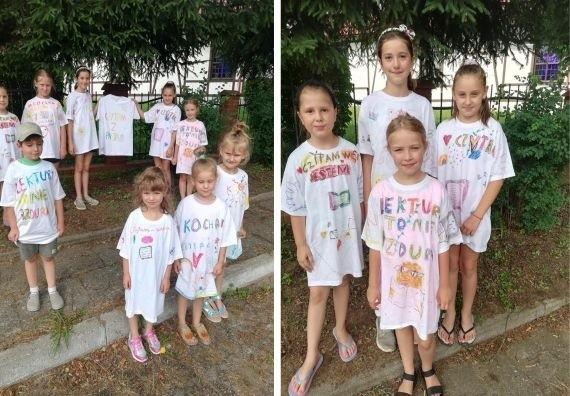 Dzieciaki stworzyły świetne koszulki.