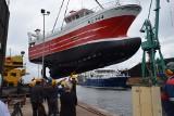 """Pożegnalne wodowanie w stoczni Nauta-Hull przy ul. Waszyngtona w Gdyni. """"Mikkel Louize"""" już na wodzie [wideo, zdjęcia]"""