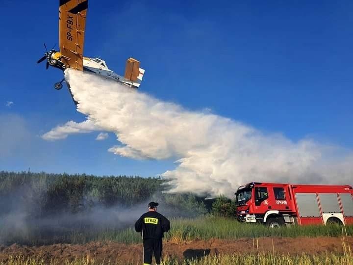 Dzięki użyciu samolotów gaśniczych i ciężkiego sprzętu pożar...