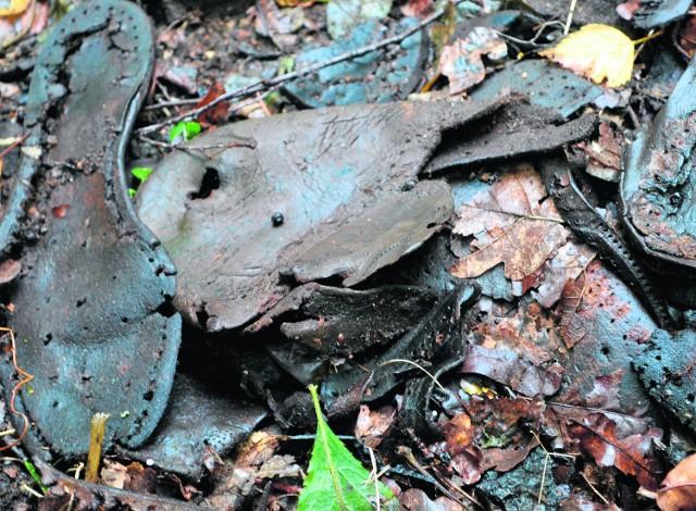 Teren, na którym znaleziono buty, został zabezpieczony