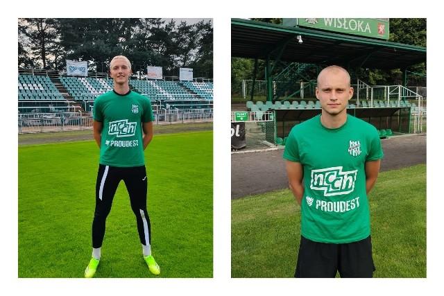 Aleksander Stachnik (z lewej) i Rafał Górecki to nowi gracze biało-zielonych