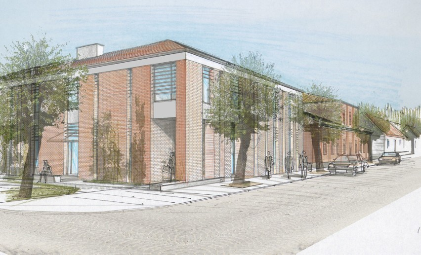 Centrum Kultury i Rekreacji w Supraślu. Supraśl może mieć nową bibliotekę (wizualizacje)