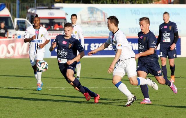Portowcy wykorzystują przerwę reprezentacyjną i grają sparing. Na zdjęciu Hubert Matynia (z lewej) i Maksymilian Rogalski.