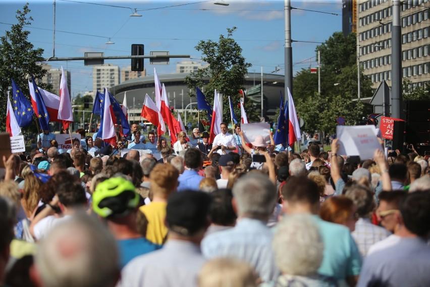 Rafał Trzaskowski z żoną Małgorzatą w Katowicach 5 lipca br.