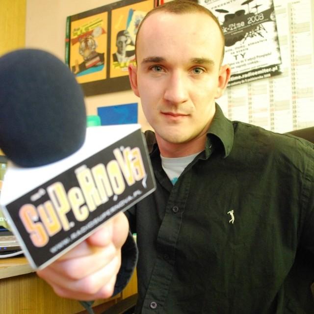 Karol Biskup, redaktor naczelny radia Supernova.