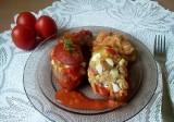 Faszerowane pyrki jajkiem, boczkiem i mięsem mielonym