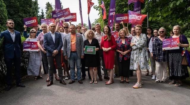 Polityczki Lewicy na pikniku w Kielcach wraz z sympatykami