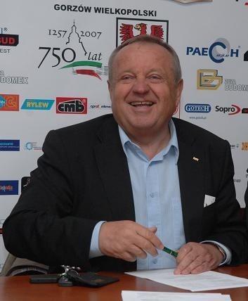 Prezes Caelum Stali Władysław Komarnicki jest dumny, że PGE będzie w Gorzowie głównym sponsorem DPŚ