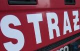 Pożar w Stęszewie: Pali się fabryka mebli