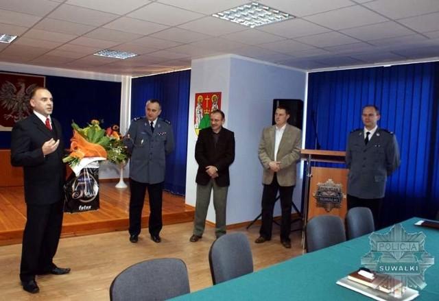 Krzysztof Kapusta (pierwszy z lewej) nie będzie już informował o policyjnych wydarzeniach
