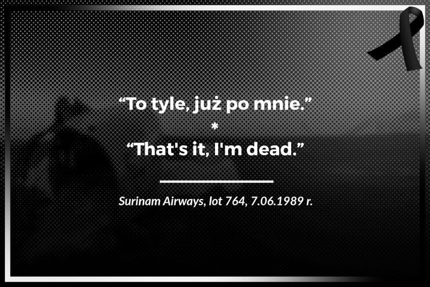 Surinam Airways, lot 764, 7.06.1989 r....