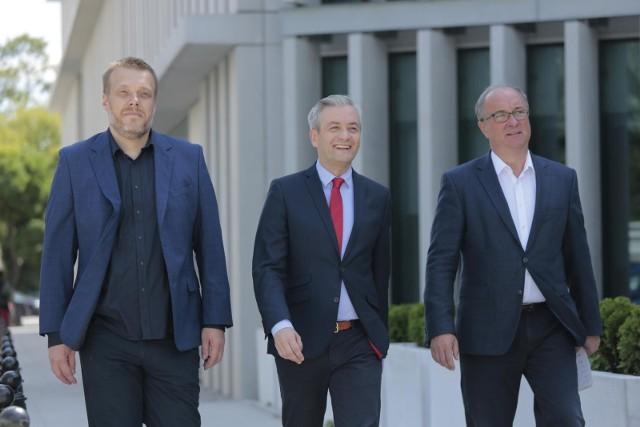 Adrian Zandberg, Robert Biedroń i Włodzimierz Czarzasty.