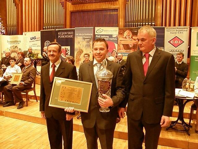 Piotr Skarbiński w Bydgoszczy odebrał nagrodę specjalną dla najlepszego rolnika