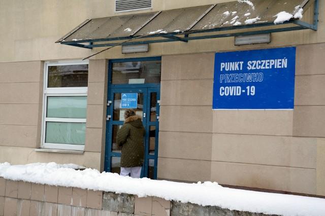 Punkt szczepień przeciwko COVID-19 znajduje się na perterze pawilonu Oddziału Psychiatrycznego szpitala