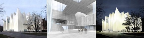 Projekt przyszłej filharmonii został wybrany w międzynarodowym konkursie architektonicznym. Jago autorem jest Estudio Barozzi Veiga, firma architektoniczna z Barcelony.