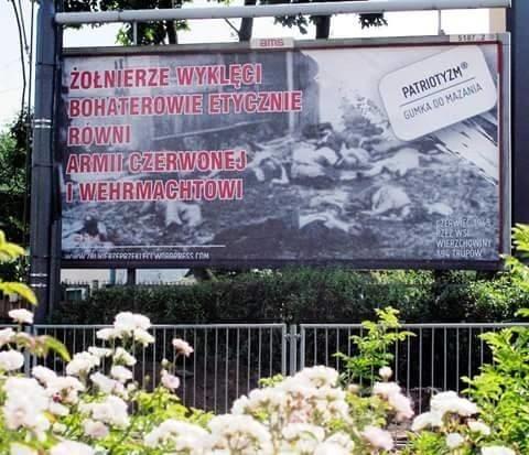 Plakat szkalujący Żołnierzy Wyklętych został już usunięty