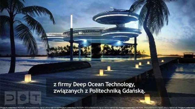 """Konstrukcja hotelu wsparta jest na czterech wytrzymałych """"nogach"""" osadzonych na dnie morza"""