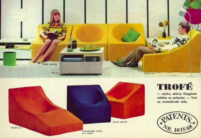 Rok 1969, futurystyczne meble wypo zynkowe