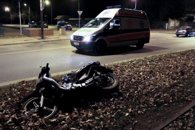 Na Zgierskiej młody kierowca nie ustąpił pierwszeństwa skuterzyście