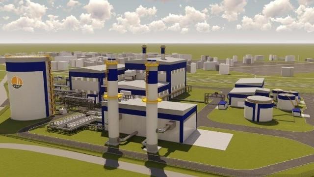 Wizualizacja nowej elektrociepłowni w Siechnicach
